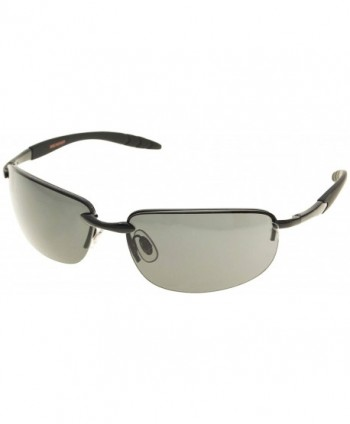 Dockers Mens Rimless Sunglasses Black