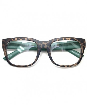 Glasses Classic Oversized Spectacles Leopard