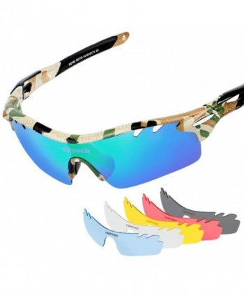 Tsafrer Polarized Sunglasses Interchangeable Cycling