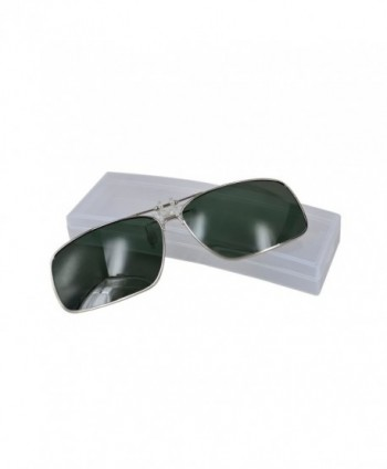 Polarized Clip Flip Sunglasses Green
