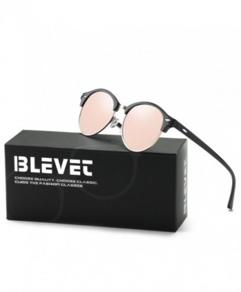 BLEVET Polarized Sunglasses Designer Rimless