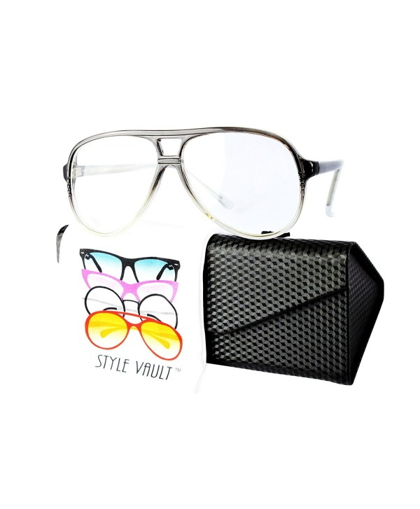 Style Vault Oversized Sunglasses Grey clear