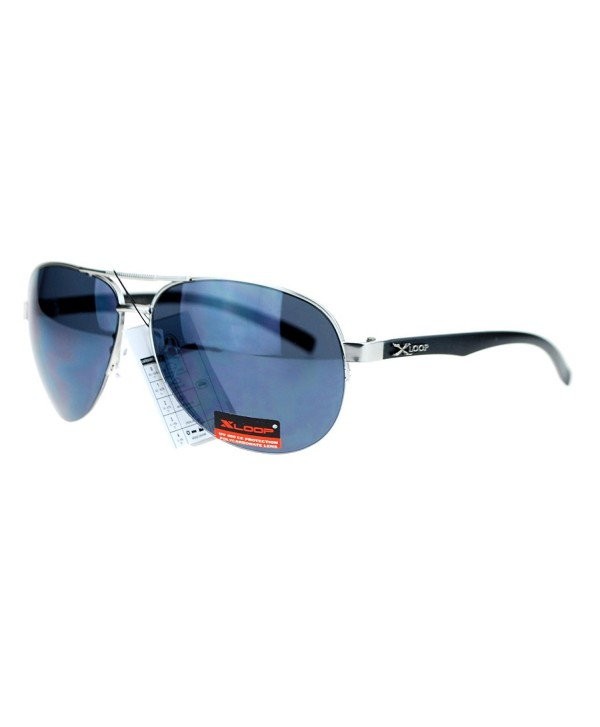 Rimless Aviator mirrored Mirror Sunglasses
