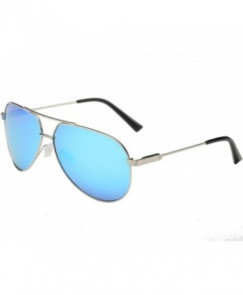 SSLR Aviator Polarized Metal Frame Sunglasses