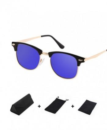 Polarized Clubmaster Semi Rimless Sunglasses classics