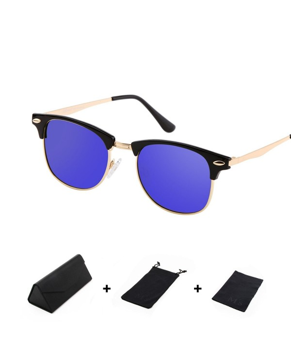 b81707b6d6 Ms Polarized Clubmaster Classic Half Frame Semi-Rimless Rimmed ...