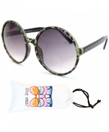 Style Vault Oversized Sunglasses Green Smoked