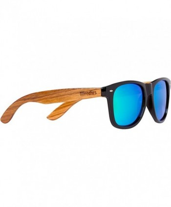 WOODIES Zebra Sunglasses Mirror Lenses
