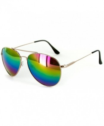 Officer Aviator Sunglasses Rainbow Stylish