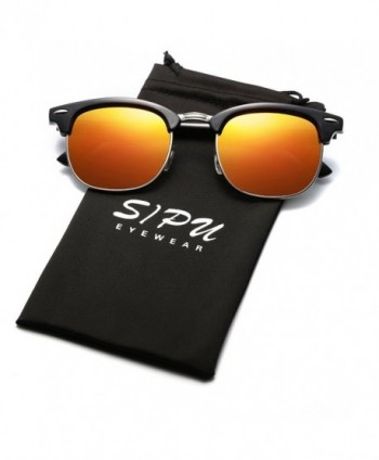 SIPU Polarized Semi rimless Sunglasses Women