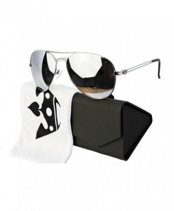 T011 pc Triple Aviator Sunglasses Silver mirrored