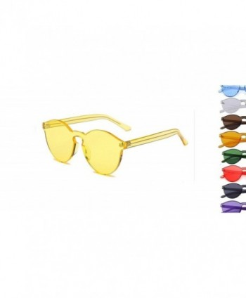 Retro Fashion Sunglasses Candy Yellow