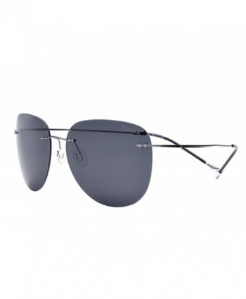 FONEX Titanium Sunglasses Frameless Aviation