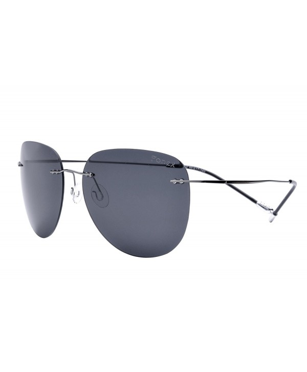 0344a63bea Women Rimless Titanium Alloy Sunglasses Frameless Aviation Sun ...