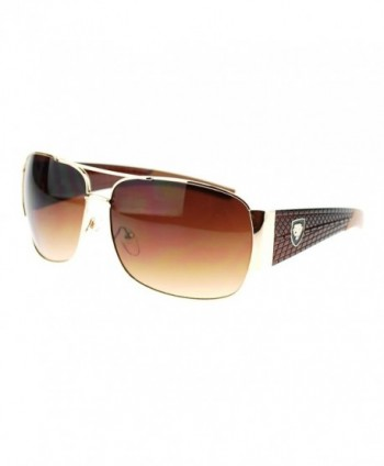 Luxury Fashion Shield Rectangular Sunglasses
