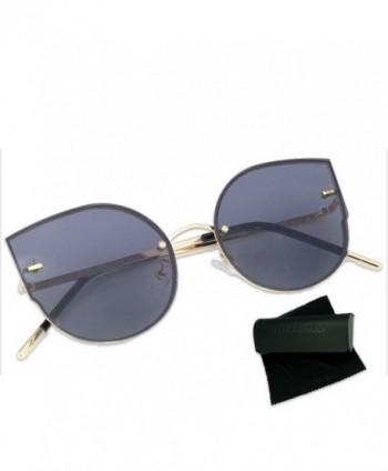 Alondra Kolt Oversize Rimless Sunglasses