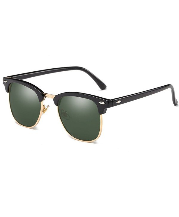 4fe04ee7534 Polarized Clubmaster Classic Half Frame Semi-Rimless Rimmed ...