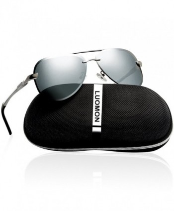 LUOMON Polarized Aviator Sunglasses Mirrored