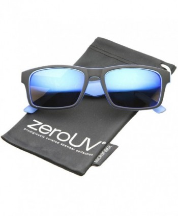zeroUV Two Toned Rectangle Sunglasses Black Blue