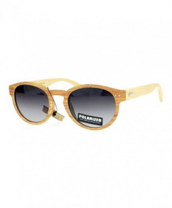 SA106 Polarized Bamboo Keyhole Sunglasses
