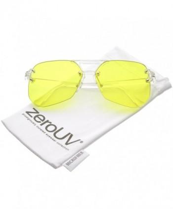 zeroUV Oversize Rimless Keyhole Sunglasses