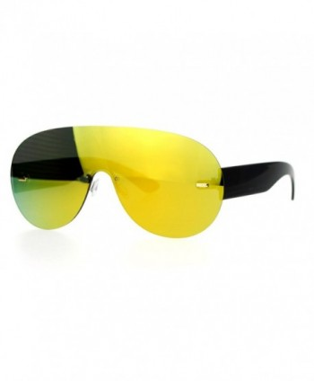 SA106 Futuristic Rimless mirrored Sunglasses