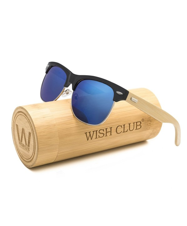 4c01ef992d3db Wood Clubmaster Sunglasses for Men with UV 400 Square Handmade with ...