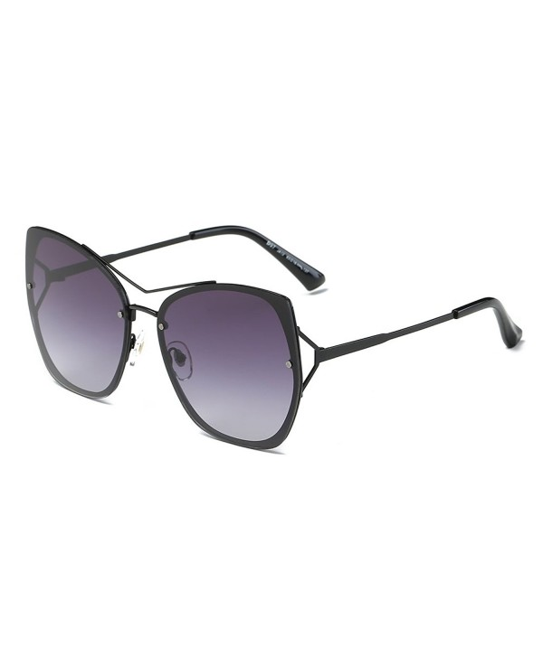 DONNA Oversized Mirrored Sunglasses Gradient