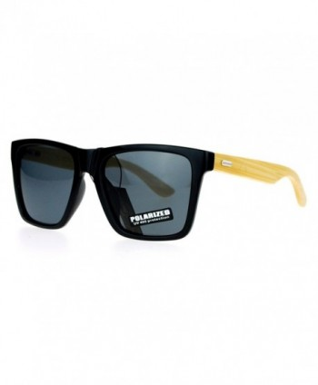 SA106 Bamboo Oversize Sunglasses Polarized