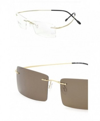 Photochromic light adjusting eyeglasses Rectangular golden%C2%A3%C2%ACchange
