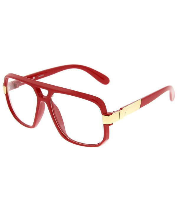 zeroUV Classic Accented Temples Red Gold