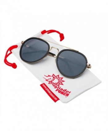grinderPUNCH Fashion Metal Aviator Sunglasses