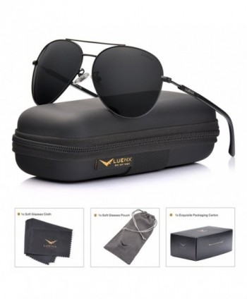 Aviator Sunglasses Women Polarized Black
