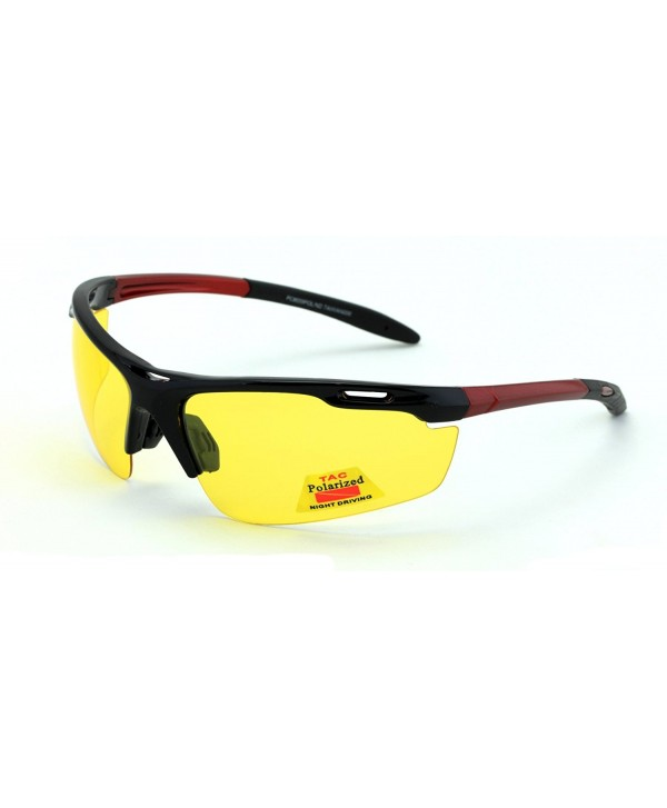 Polarized rimless yellow night driving