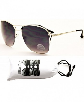 WM506 vp Semi Rimless Oversized Sunglasses Black Smoked