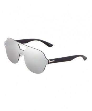 Rimless Oversized Shield Aviator Sunglasses