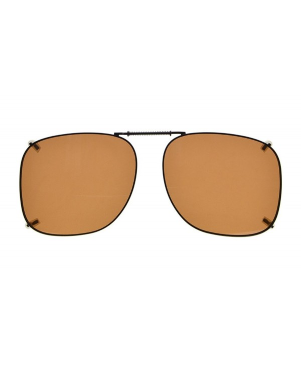 f2ebb2aad0 Metal Frame Rim Polarized Lens Clip On Sunglasses 2 1 16