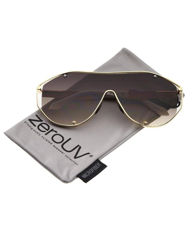 zeroUV Futuristic Sunglasses Gold White Lavender