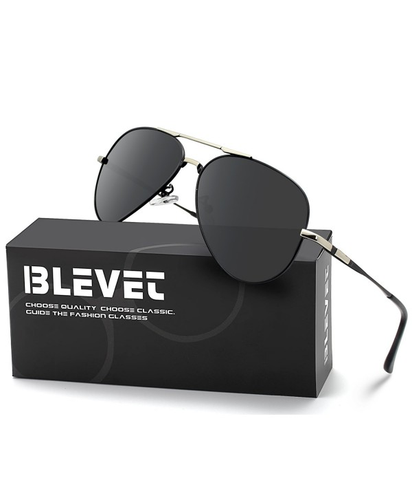 BLEVET Aviator Sunglasses Polarized Frame Grey