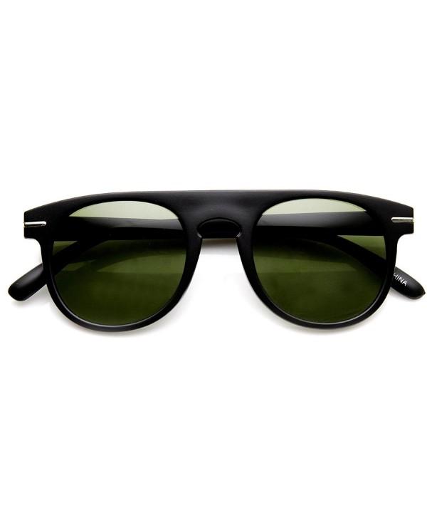 zeroUV Fashion Sunglasses Matte Black Green Fade