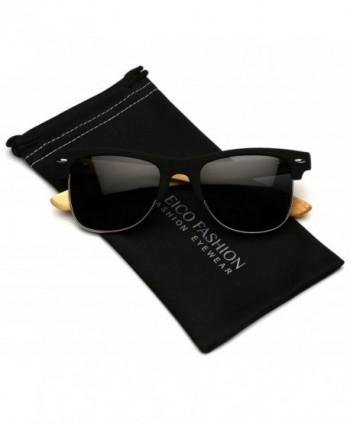 Polarized Bamboo Sunglasses Classic Rimless