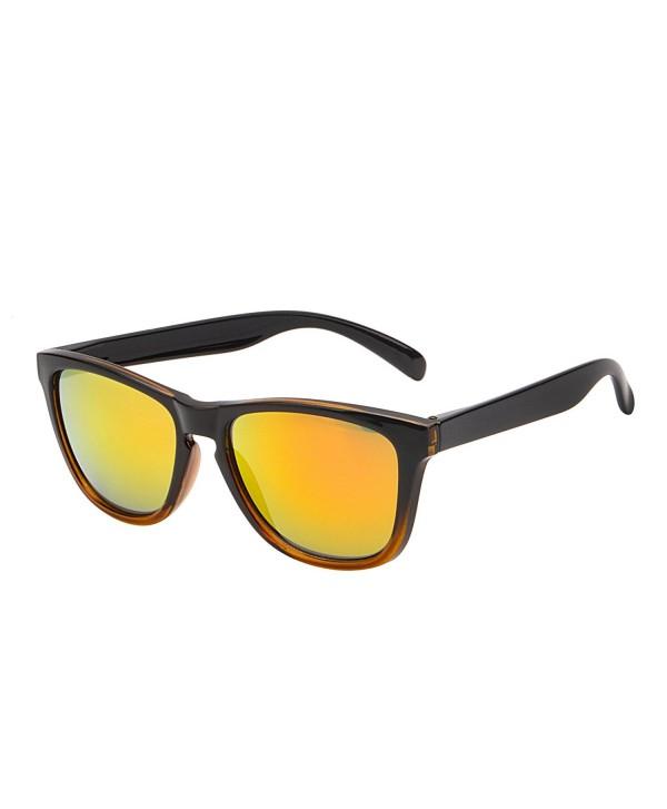 Mirrored Reflective Wayfarer Sunglasses Lightweight