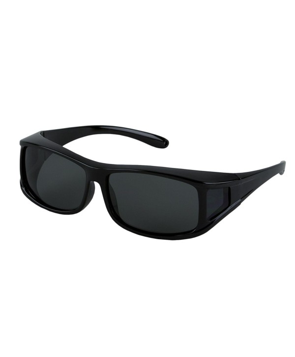 97665cf5bf ... Wear Over Prescription Glasses. Polarized Size Medium. - Rectangle Black  Frame - CD11LPTTPBR. LensCovers Sunglasses Prescription Glasses Polarized