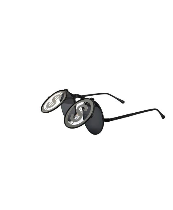 Ucspai Steampunk Glasses Sunglasses Silver