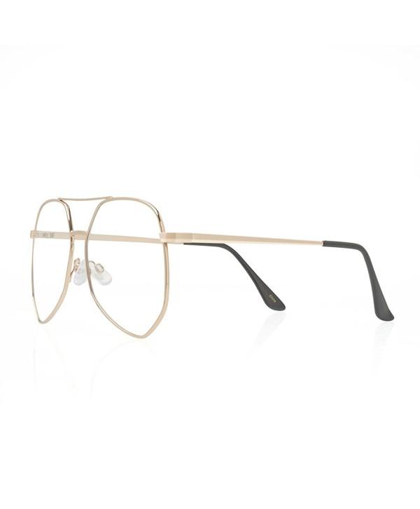 TWING Aviators Geometric Sunglasses LensAV 1525 CLR
