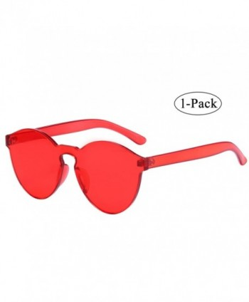 Piece Rimless Sunglasses Transparent Eyewear