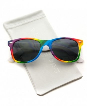 Rimmed Style Rainbow Mirrored Sunglasses