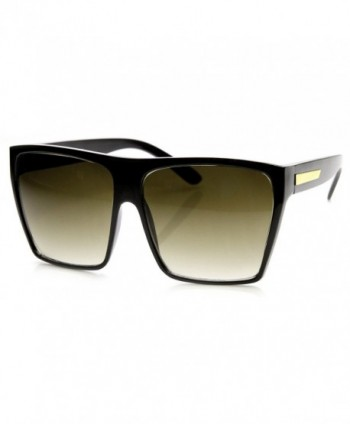 Eyewear Square Fashion Sunglasses Black gold