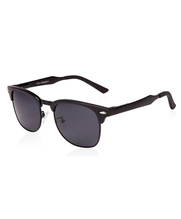 SUNGAIT Classic Clubmaster Sunglasses Polarized