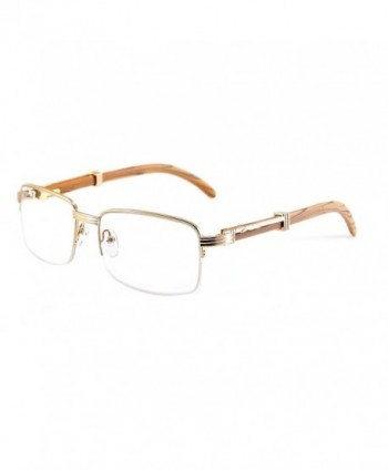Vintage Semi Rimless Clear Eyeglasses Protection